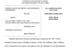 "The Securities and Exchange Commission (SEC) alleges that Collectors Café, an online memorabilia auction company, and its CEO Mykalai Kontilai, illegally tried to stop investors from reporting misconduct to the government in violation of the SEC's whistleblower protection rules.  The SEC already sued Kontilai and Collectors Café for operating a ""fraudulent $23 million securities offering based on false statements to investors."""