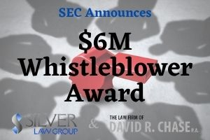 "On December 1, 2020, the Securities and Exchange Commission (SEC) announced that two whistleblowers had been awarded over $6 million for providing information and assistance that led to a successful enforcement action.  The SEC's press release called the whistleblowers' assistance substantial and stated that they provided it to the SEC and another government agency. Their assistance included providing documents, taking part in interviews, and identifying individuals involved in the misconduct.  Jane Norberg, Chief of the SEC's Office of the Whistleblower said ""The whistleblowers' information led to multiple successful government actions related to a complex scheme involving several individuals and tens of millions of dollars in ill-gotten gains. Today's award demonstrates the significant contributions whistleblowers make to investigations that can save the SEC and other government agencies substantial time and resources."""