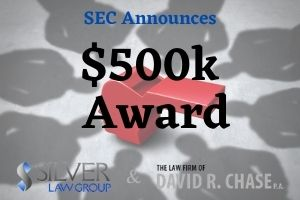 """In yet another tip that yielded a successful investigation, the SEC awarded $500,000 to two whistleblowers who provided cruicial information. In addition to the SEC, other law enforcement agencies were involved in stopping the continuing investor fraud. The press release indicated that the individuals offered the agencies """"substantial, ongoing assistance that focused the investigation.""""The information saved the involved agents time and additional resources. There were multiple SEC actions as well as """"a related action from another government agency.""""  The SEC depends on whistleblower tips to find and/or continue investigations into securities fraud and other criminal acts that harm investors. Tips like these can fill in gaps that investigators might now otherwise discover on their own, and help bring wrongdoers to justice sooner. Payments like these are made from an investor protection fund established by Congress. The funds come from monetary sanctions paid to the SEC by those who violate the law. Information that leads to a successful SEC action can see whistleblowers awarded monies. The usual awards are between 10% and 30% in cases that net over $1M in fines and sanctions. In this case, the two whistleblowers will split the $500,000 award 50/50."""