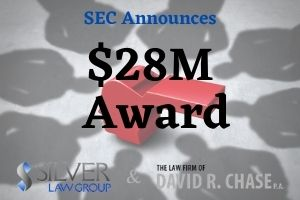 """The SEC today awarded a whistleblower a sum of $28M after providing the SEC with information that led to a successful enforcement action and a second related action with another federal agency. The second agency was not identified. As a result of the informant's information, both the SEC and the second federal agency made the decision to open and pursue individual investigations. Because of the second related action, the informant was also eligible for another award brought about from the initial SEC investigation and enforcement action. """"The SEC has awarded more than $900 million over the life of the program, including almost $85 million to nine individuals in this month alone, which reflects the vitality and continued success of the SEC's whistleblower program,"""" said Emily Pasquinelli, the current Acting Chief of the SEC's Office of the Whistleblower. The agency has awarded an astonishing $901 million to 163 individuals since the program began in 2012, with no signs of slowing down."""