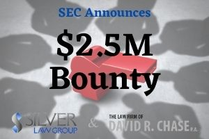 """On April 9, 2021, The SEC announced the award of $2.5 million to a whistleblower for information and assistance that led to a successful enforcement action.  This case involved a breach of fiduciary duty that was owed to investors. The SEC determined that the individual voluntarily provided """"significant ongoing assistance"""" which included information and meeting with staff. This whistleblower provided key information that helped the SEC bring their enforcement action.  The company was engaged in ongoing violations of the federal securities laws, which led to law enforcement interest. Additionally, the whistleblower also reported concerns internally to the company prior to notifying the SEC.  A second claimant was involved in this case, but the SEC's Claims Review Staff (CRS) determined it ineligible. The claimant decided not to request a review of this preliminary determination.  The SEC decides on an award by treating both the administrative and judicial facts as a single """"covered action,"""" since the case arose from the same information. An SEC bounty can be anywhere from 10% to 30% of recovered funds that total over $1 million from civil monetary penalties and disgorgement. These bounties are never taken from defrauded investor funds."""