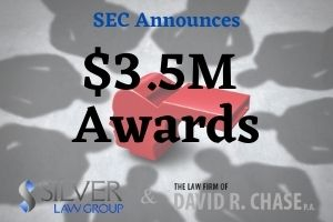 """The SEC has announced the award of $3.5 million to whistleblowers in two unrelated successful enforcement proceedings. In the first case, one individual was awarded a bounty of $2M after alerting the SEC to an ongoing fraud that led to the agency opening their investigation. The individual offered continuing assistance, which included documents, interviews, and other information that helped SEC staff conserve time and resources. The second order saw one individual receive a $1M bounty, and a second one receive $500,000. The first whistleblower provided information that the SEC used as their framework for the investigation. They also provided additional assistance throughout the investigation. The second whistleblower offered """"independent analysis"""" that helped refine the investigation's focus and assisted with the creation of a subpoena. The second whistleblower's knowledge also helped the SEC staff members with the final charges that were eventually brought by the commission. The Use Of Non-GAAP Methodology Although not a factor in these two cases, many companies use Non-GAAP, or Non-Generally Accepted Accounting Practices. Some use Non-GAAP to supplement their reporting to give a clearer picture to investors. However, the SEC has also discovered that many companies use Non-GAAP in the process of committing fraud."""
