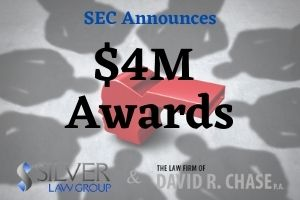 """Four whistleblowers who assisted the SEC in two separate enforcement proceedings have been individually awarded a financial bounty as a result of providing important information.  The first order saw awards to two whistleblowers, with the first receiving a $2 million award. The provided information led to an investigation, and the individual provided continual assistance including in-person interviews and the identification of central entities and persons. The second whistleblower in the order was awarded $150,000 after providing more limited information expanding the investigation into additional allegations of misconduct at the same company. The second order awarded $1.1 million to the first whistleblower, and the second in excess of $500,000. The first whistleblower alerted the SEC to the misconduct after reporting it internally. The second whistleblower's information was not as extensive, and not submitted as timely as the first one, with some """"unreasonable delay."""" The two actions arose from the same """"nucleus of facts."""" Therefore, this action was treated as a single covered action when determining the amount of awards given to both individuals. A third whistleblower was involved in this action. However, the SEC decided against awarding a bounty, and the individual chose not to seek reconsideration of that decision."""