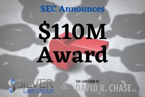 """In one of the highest payouts since the inception of the SEC's Whistleblower Program, an individual recently received a total bounty of an astounding $110M. It's the second highest award paid to a whistleblower, following a $114M award paid just last October. The SEC awarded the individual $40 million, and the other agency paid $70 million for a related action.  This brings the SEC's Whistleblower program's total awards to the $1 billion mark since 2012, and payments made to a total of 207 individuals. In FY2021 alone, the SEC has paid out over $500 million in whistleblower bounties. These come from financial sanctions collected from wrongdoers, such as civil penalties and disgorgement, not from money recovered on behalf of defrauded investors.  The whistleblower provided information from """"significant independent analysis"""" that greatly assisted both the SEC's staff and the second agency in their investigations.  In the same press release and order, the SEC announced that a second whistleblower received a bounty of $4M after supplying information that was """"much more limited"""" and provided after the beginning of an investigation."""