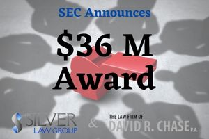 """On September 24, 2021, the Securities and Exchange Commission (SEC) announced that it awarded roughly $36 million to a whistleblower who provided information and assistance that """"significantly contributed to the success of an SEC enforcement action as well as actions by another federal agency.""""  The other agency was not named, and limited information was provided in order to protect the identity of the whistleblower.  According to the SEC's press release, the whistleblower gave information on an illegal scheme that was crucial to the government. The whistleblower met with the SEC's and the other agency's staff multiple times and identified """"key documents and witnesses.""""  """"Today's whistleblower brought valuable new information to the attention of the SEC and to another federal agency, greatly assisting ongoing investigations…Whistleblowers can act as a springboard for an investigation or, like here, they can propel forward an already existing investigation,"""" said Emily Pasquinelli of the SEC's Office of the Whistleblower.  As of this writing, the SEC has awarded about $1.1 billion to 214 people since it first issued an award in 2012. Whistleblowers are not paid with money from harmed investors, but from sanctions paid to the SEC by violators of securities laws."""